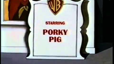 Warner Bros Cartoons Golden Jubilee Opening (Example for Porky Pig)