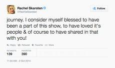 Rachel Skarsten (Season 5 End of LG) tweet