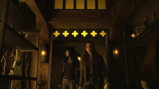 Bo and Kenzi enter Light Fae trophy room (113)