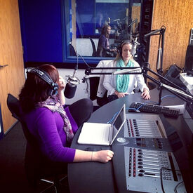 Zoie Palmer Ward and Al (Canada Talks SiriusXM) November 2013 (1)