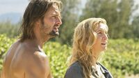 Sawyer and Juliet in shock due to missing freighter