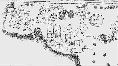 Une carte des Baraquements