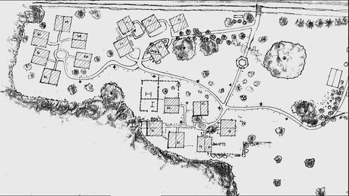 A map of the barracks
