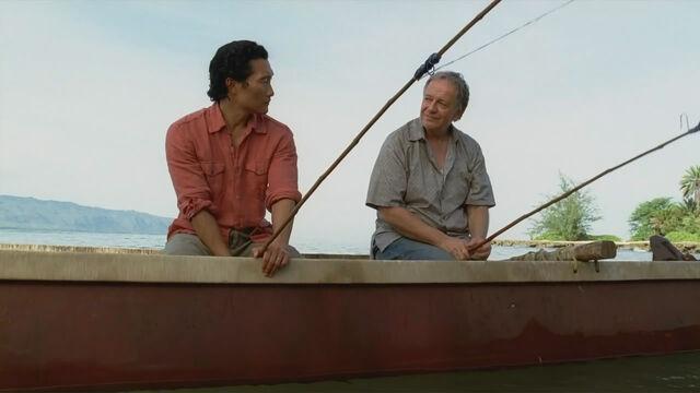 ملف:Jin and Bernard fishing.jpg