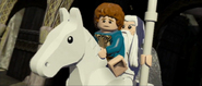 Lego lotr Gandalf and pippin ride shadowfax
