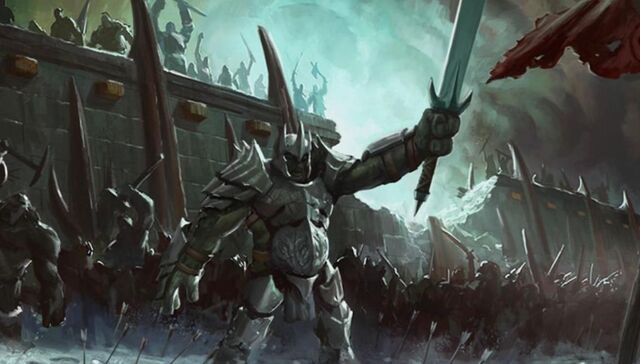 File:Rogash defend their Fortress in Carn Dum, Capital city of Angmar.JPG