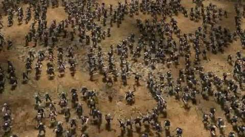 Huge Orc Warrior Army in LOTR BFME II