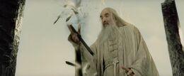 Saruman's staff is broken
