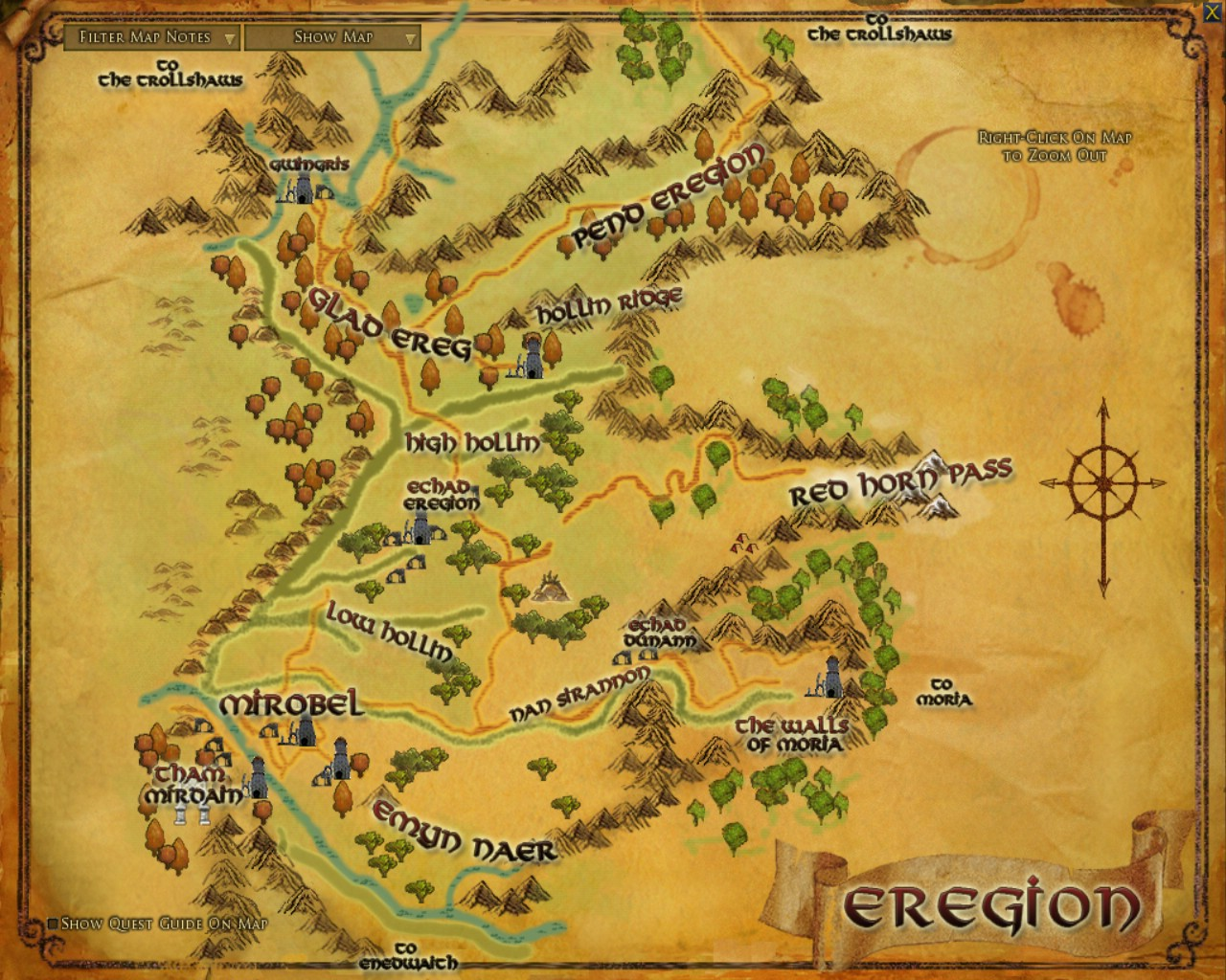 Eregion The One Wiki to Rule Them All – Lord of the Rings Detailed Map