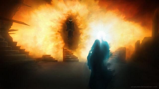 File:Galadriel vs sauron by amarzbar-d8aom79.jpg