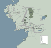 LOSSARNACH location map in middle earth