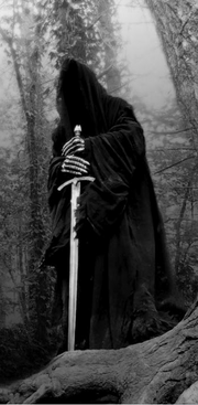 The Nazgul alone-greyscale-HV
