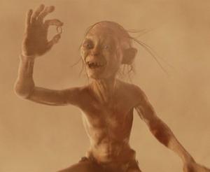 Gollum has the ring