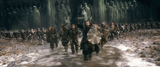 The Dwarves of Erebor join the battle