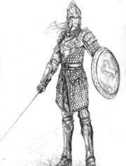 Princess Natalie in her armor