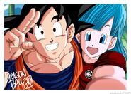 Bulma and son goku 30th anniversary selfie by omaruindustries-d8751f6
