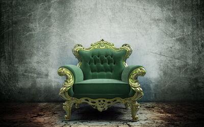 337978 stul kreslo mebel tron zelyonyj render 3200x2000 (www.GdeFon.ru)