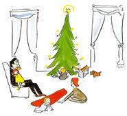 Madeline's Christmas Family Scene