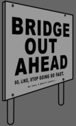 Madness Combat Bridge Out Sign