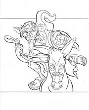 Iskaral Pust and his war mule by Enaglio