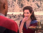 Sisko is gonna score!