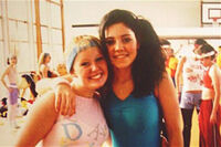 Marina at a dance competition in Wales aged 14