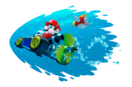 Mario Artwork - Driving Underwater - Mario Kart 7