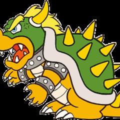 False Bowser's artwork from <i>Super Mario Bros.</i>