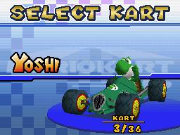 Cucumber with Yoshi - Mario Kart DS