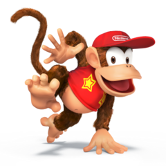 Diddy Kong as he will appear in <i><a href=