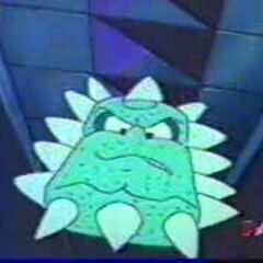 A Thwomp from the <i>Mario</i> cartoon