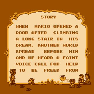 The first half of the story screen in the prototype version of <i><a href=