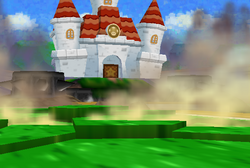 Earthquake at Princess Peach's Castle