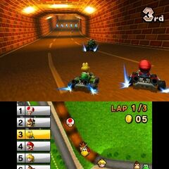 Luigi Raceway's tunnel as seen here in <i>Mario Kart 7</i>