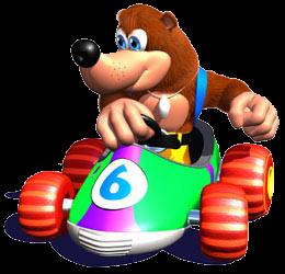 Banjo Artwork - Diddy Kong Racing