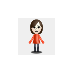 A basic female Mii.