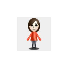 A basic female Mii.