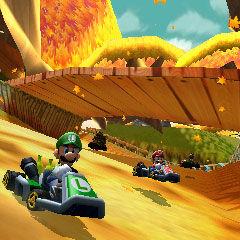 Luigi racing in <a href=