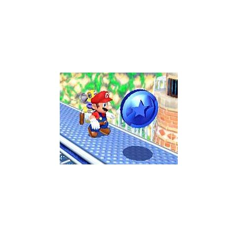 Mario near a Blue Coin in <i><a href=
