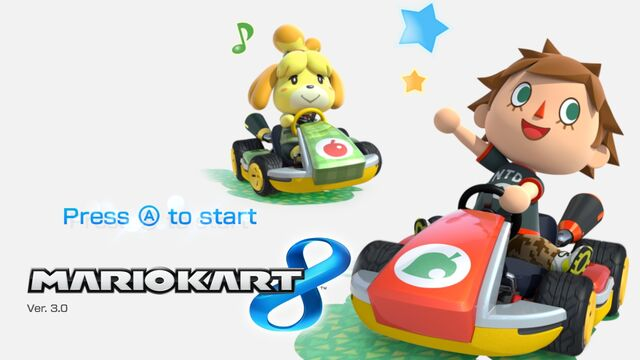 File:Mario Kart 8 Title Screen (Villager and Isabelle).jpg