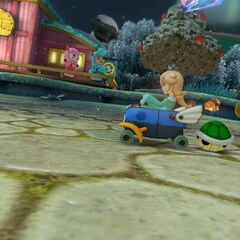 Rosalina, racing on the track.