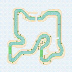 The track, as it is seen in <i>Mario Kart DS</i>.