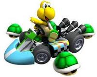 Koopa Troopa with Triple Green Shells (Mario Kart Wii)