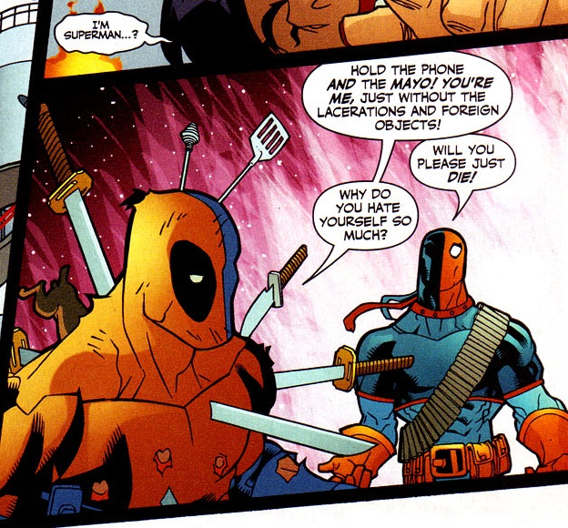 lego deadpool and deathstroke relationship