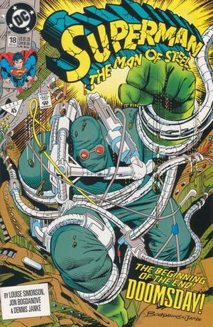 Cover for Superman: Man of Steel #18 (1992)