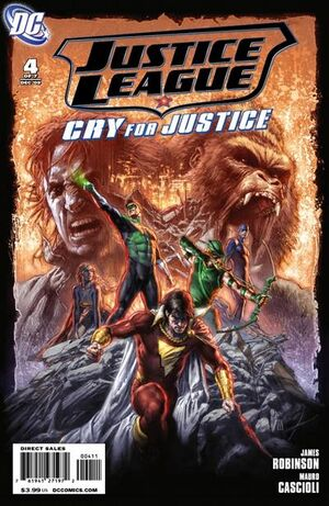 Cover for Justice League: Cry for Justice #4 (2009)