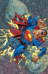 New Earth Superman vs. Earth-Two Superman.