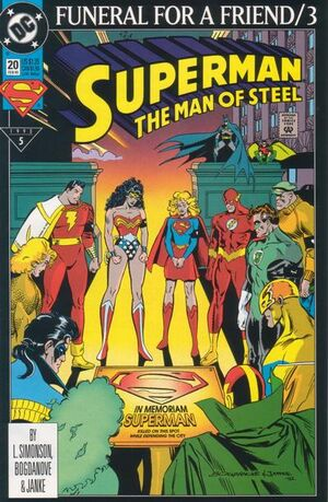 Cover for Superman: Man of Steel #20 (1993)