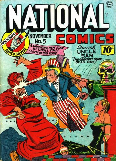 Image result for national comics uncle sam,