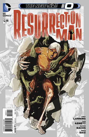 Cover for Resurrection Man #0 (2012)